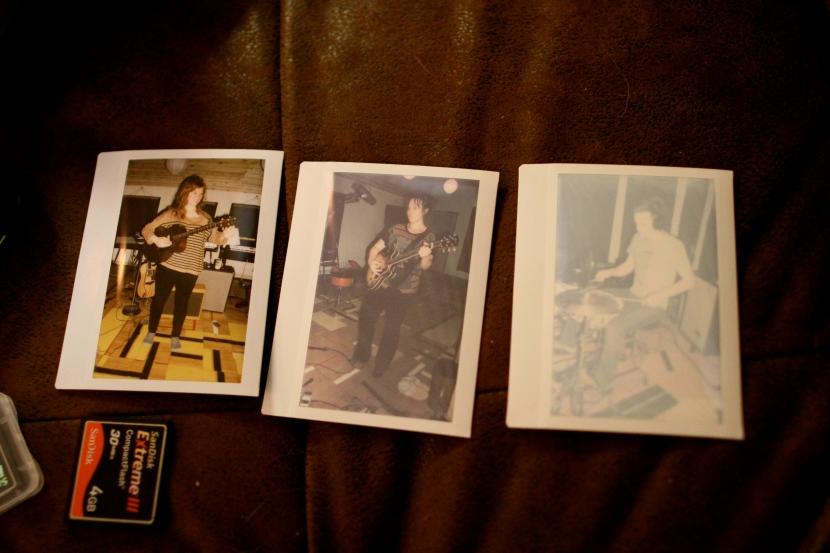 Recording polaroids